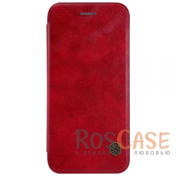 Чехол-книжка Nillkin Qin из натуральной кожи для Apple iPhone 7 / 8 (4.7) (Красный)Описание:производитель:&amp;nbsp;Nillkin;совместим с Apple iPhone 7 / 8 (4.7);материал: натуральная кожа;тип: чехол-книжка.&amp;nbsp;Особенности:защита от механических повреждений;ультратонкий;фактурная поверхность;внутренняя отделка микрофиброй.<br><br>Тип: Чехол<br>Бренд: Nillkin<br>Материал: Натуральная кожа