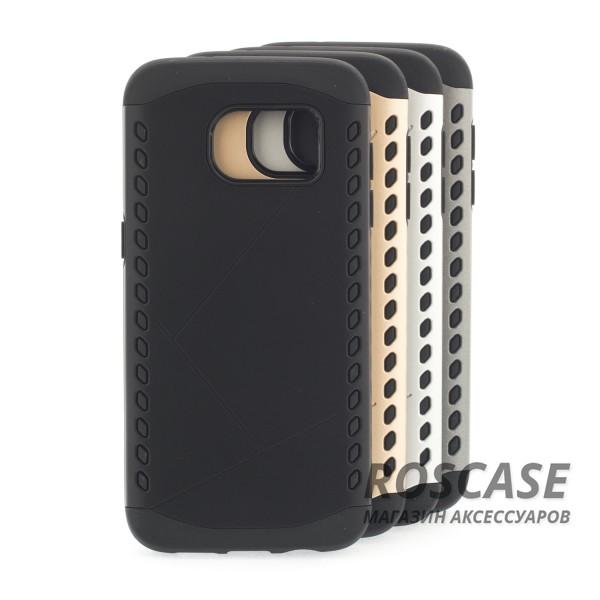 Противоударный защитный чехол Armor для Samsung Galaxy S7 Edge с усиленным прорезиненным бамперомОписание:разработан специально для Samsung G935F Galaxy S7 Edge;материалы: термополиуретан, поликарбонат;формат: накладка.Особенности:защита от ударов;двойной корпус;не скользит в руках;усиленный бампер;присутствуют все необходимые вырезы.<br><br>Тип: Чехол<br>Бренд: Epik<br>Материал: TPU