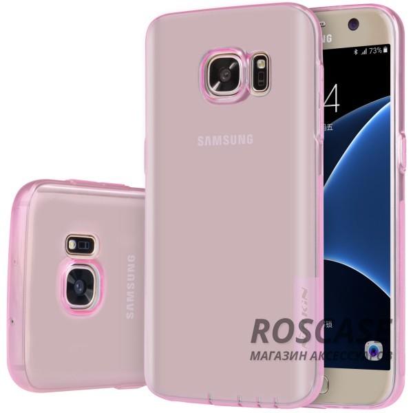 TPU чехол Nillkin Nature Series для Samsung G930F Galaxy S7 (Розовый (прозрачный))Описание:производитель  -  бренд&amp;nbsp;Nillkin;совместим с Samsung G930F Galaxy S7;материал  -  термополиуретан;тип  -  накладка.&amp;nbsp;Особенности:в наличии все вырезы;не скользит в руках;тонкий дизайн;защита от ударов и царапин;прозрачный.<br><br>Тип: Чехол<br>Бренд: Nillkin<br>Материал: TPU