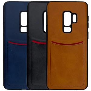 iLevel | Чехол с кожаным покрытием и карманом для Samsung Galaxy S9 Plus
