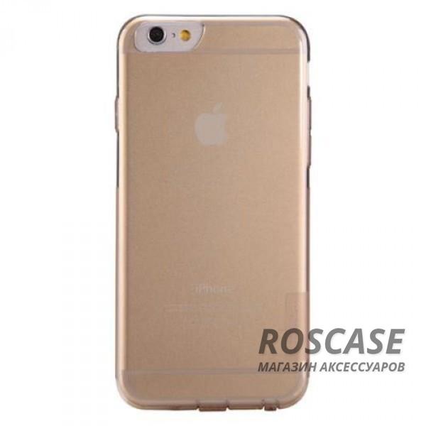 TPU чехол Nillkin Nature Series для Apple iPhone 6/6s (4.7) (Золотой (прозрачный))Описание:производитель  -  Nillkin;совместимость: Apple iPhone 6/6s (4.7);материал  -  термополиуретан;форма  -  накладка.&amp;nbsp;Особенности:в наличии все вырезы;матовая поверхность;не увеличивает габариты;защита от ударов и царапин;на накладке не видны &amp;laquo;пальчики&amp;raquo;.<br><br>Тип: Чехол<br>Бренд: Nillkin<br>Материал: TPU
