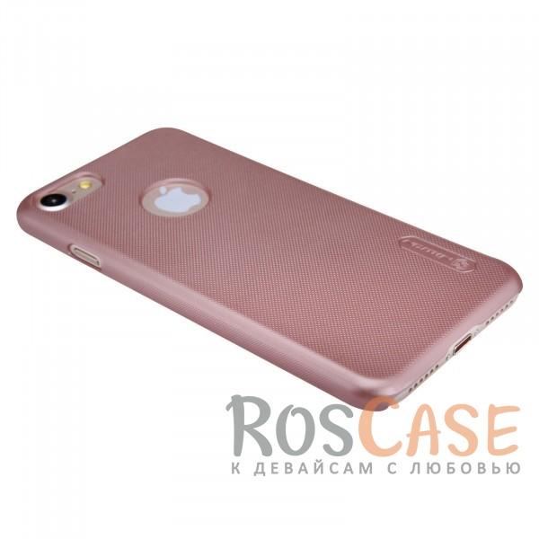 "Фотография Розовый / Rose Gold Nillkin Super Frosted Shield | Матовый чехол для Apple iPhone 7 (4.7"") (+ пленка)"
