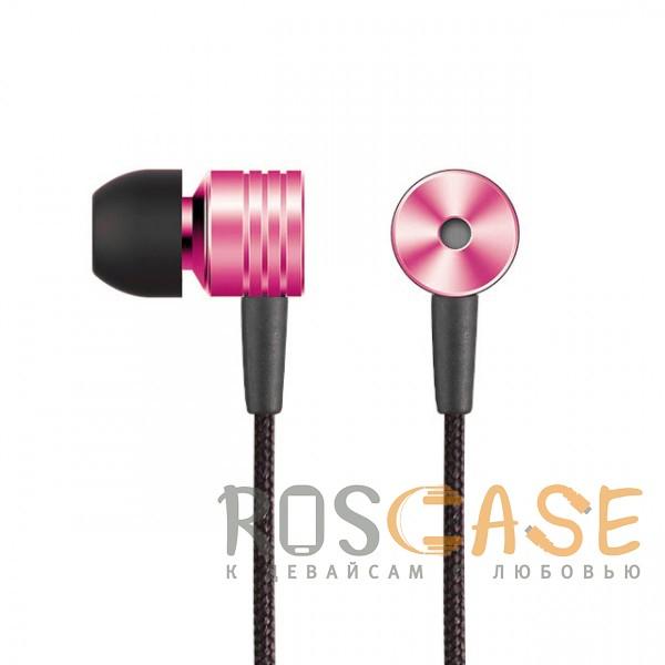 Фотография Розовый JX | Металлические наушники с плетеным проводом и пультом