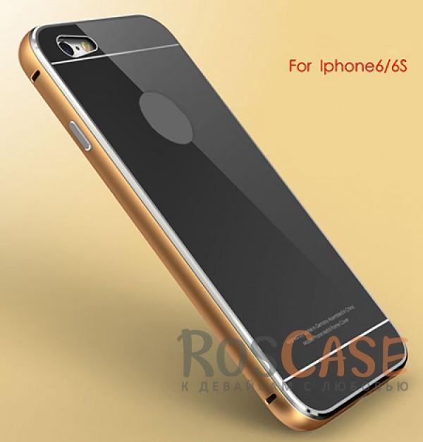 Металлический бампер Luphie с акриловой вставкой для Apple iPhone 6/6s (4.7) (Золотой / Черный)Описание:бренд -&amp;nbsp;Luphie;материал - алюминий, акриловое стекло;совместим с Apple iPhone 6/6s (4.7);тип - бампер со вставкой.Особенности:акриловая вставка;прочный алюминиевый бампер;в наличии все вырезы;ультратонкий дизайн;защита устройства от ударов и царапин.<br><br>Тип: Чехол<br>Бренд: Luphie<br>Материал: Металл