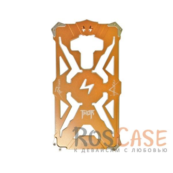 Противоударный чехол из авиационного алюминия на винтах Thor для Meizu MX6 (Золотой)<br><br>Тип: Чехол<br>Бренд: Epik<br>Материал: Металл