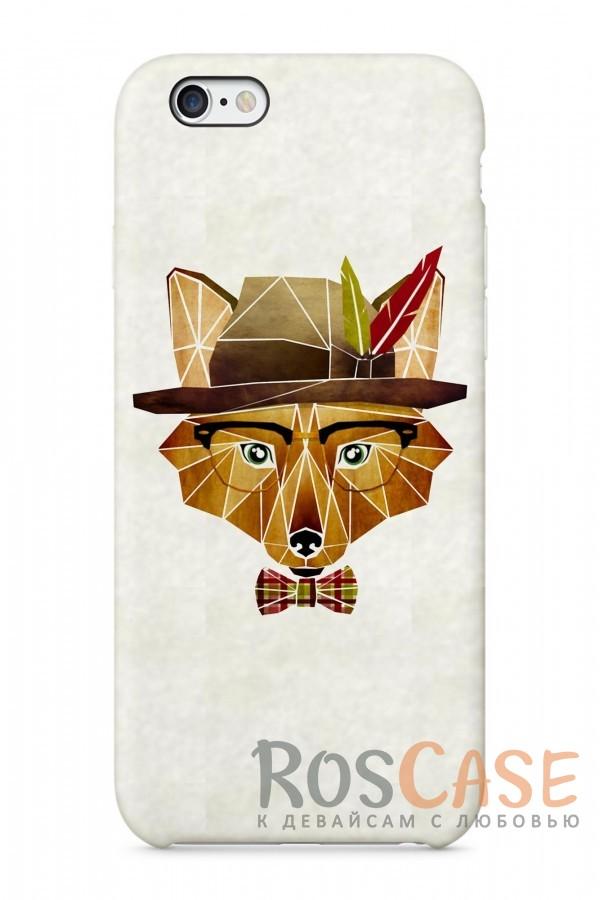 """Фото Лис Шерлок Пластиковый чехол RosCase """"Лесные животные"""" для iPhone 6/6s (4.7"""")"""