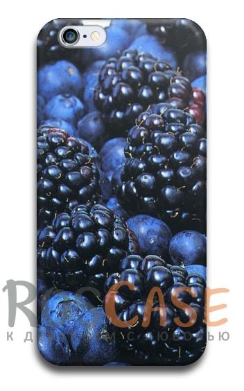 """Фото Ежевика Пластиковый чехол RosCase """"Фрукты"""" для iPhone 5/5S/SE"""
