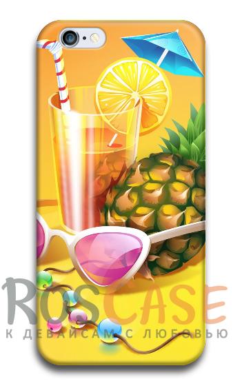 """Фото Коктейль №3 Пластиковый чехол RosCase """"ЛЕТО!"""" для iPhone 6/6s (4.7"""")"""