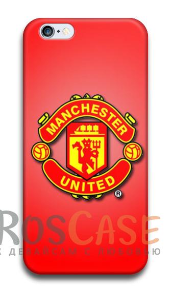 """Фото Манчестер Юнайтед №2 Пластиковый чехол RosCase """"Футбольные команды"""" для iPhone 5C"""