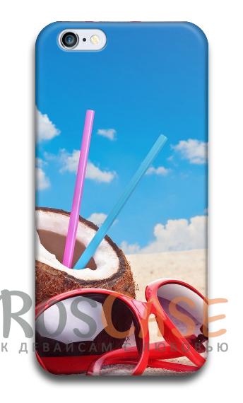"""Фото Коктейль №2 Пластиковый чехол RosCase """"ЛЕТО!"""" для iPhone 6/6s (4.7"""")"""
