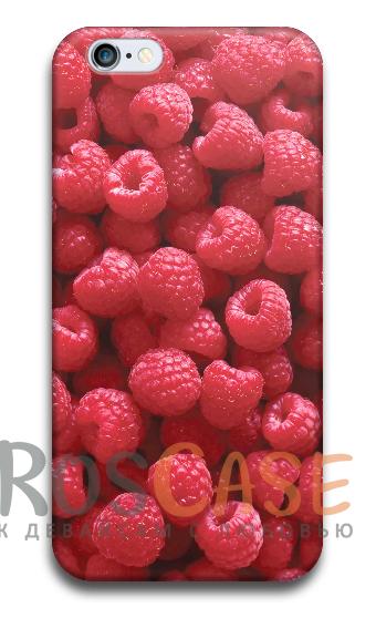 """Фото Малина Пластиковый чехол RosCase """"Фрукты"""" для iPhone 5/5S/SE"""
