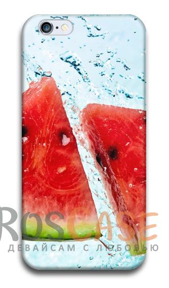 """Фото Арбуз со льдом Пластиковый чехол RosCase """"ЛЕТО!"""" для iPhone 6/6s (4.7"""")"""