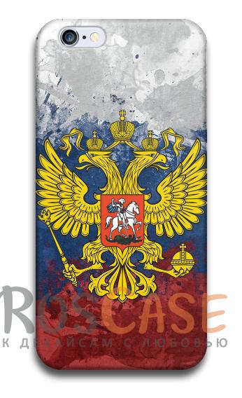 """Фото Герб России Пластиковый чехол RosCase """"Флаги"""" для iPhone 4/4S"""
