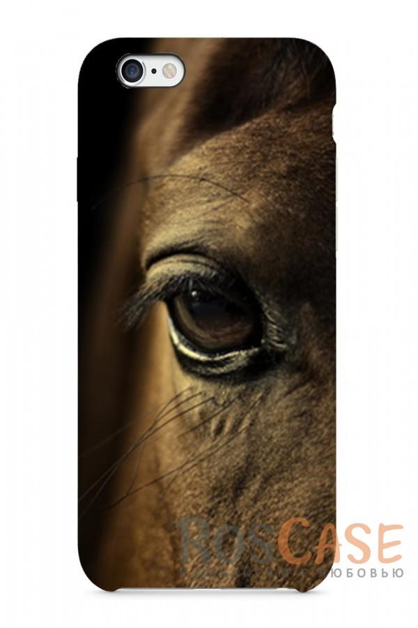 """Фото Глаз Лошади Пластиковый чехол RosCase """"Лошади"""" для iPhone 6/6s (4.7"""")"""