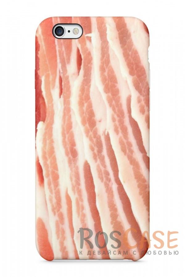 "Фото Бекон Пластиковый чехол RosCase ""Еда"" для iPhone 6/6s (4.7"")"