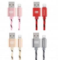 Epik Дата кабель lightning для iPhone 5/5s/SE/6/6 Plus/6s/6s Plus /7/7Plus плетеный Earldom 1m с клипсой