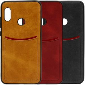 ILEVEL | Чехол с кожаным покрытием и с карманом-визитницей для Xiaomi Redmi Note 5 Pro / Note 5 (AI Dual Camera)