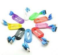 Дата кабель (светящийся smile) Navsailor (C-072) для Apple iPhone 4/4S (Малиновый)