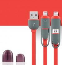 Epik ���� ������ ������� lightning/Micro USB combo Earldom (1m) (�������)
