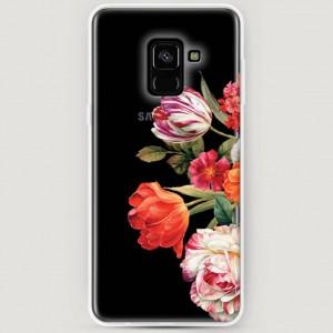 RosCase | Силиконовый чехол Весенний букет на Samsung A530 Galaxy A8 (2018)