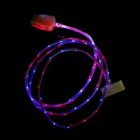 Дата кабель (светящийся) Navsailor (C-L602) для Apple iPhone 4/4S (Красный / синий)