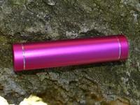 Epik Дополнительный внешний аккумулятор (Металлический Цилиндр) (2600mAh) (Малиновый)