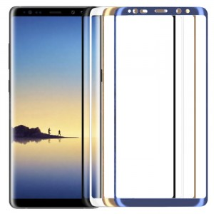 Защитное 3D стекло с цветной рамкой на весь экран для Samsung Galaxy Note 8