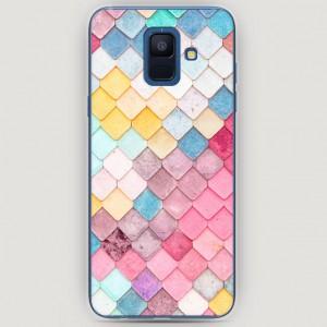 RosCase | Силиконовый чехол Нежные ромбики на Samsung Galaxy A6 (2018)