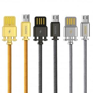 Remax RC-064a | Дата кабель в тканевой оплетке и металлическим разъёмом USB to MicroUSB (100см)