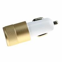 Epik Автомобильное зарядное устройство C1 2 USB (2.1A+1A) 5V (Белый / Золотой)