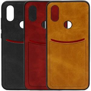 ILEVEL | Чехол с кожаным покрытием и с карманом-визитницей для Xiaomi Mi 6X / Mi A2