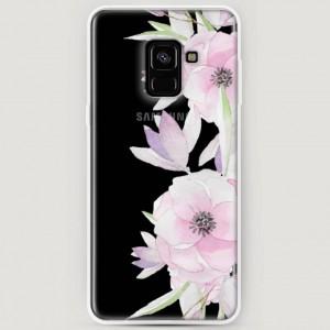 RosCase | Силиконовый чехол Нежные анемоны на Samsung A530 Galaxy A8 (2018)