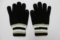 Epik Емкостные перчатки утепленные под кашемир (Черный с белой полосой)