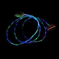 Дата кабель (светящийся) Navsailor (C-L602) для Apple iPhone 4/4S (Синий / Зеленый)