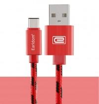 Epik Дата кабель Type-C плетеный Earldom (1m) с клипсой (Красный)