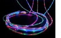Дата кабель (светящийся) Navsailor (C-L601) MicroUSB (Синий / Белый)