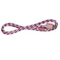 Epik Дата кабель microUSB плетеный Earldom (1m) (Розовый / Rose Gold)