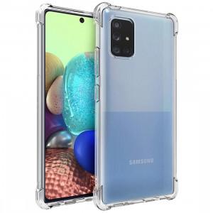 Противоударный силиконовый чехол для Samsung Galaxy A71 с усиленными углами