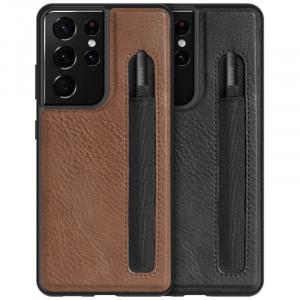 Nillkin Aoge Leather   Чехол с отделением для стилуса из Premium экокожи для Samsung Galaxy S21 Ultra