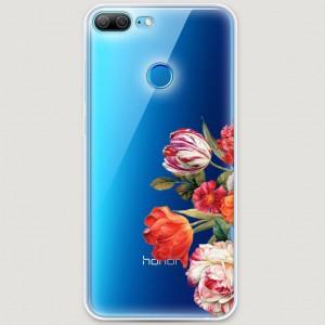 RosCase | Силиконовый чехол Весенний букет на Huawei Honor 9 Lite