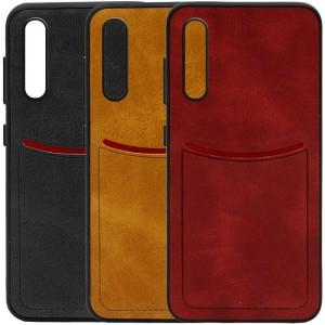 ILEVEL | Чехол с кожаным покрытием и с карманом-визитницей для Huawei P20 Pro