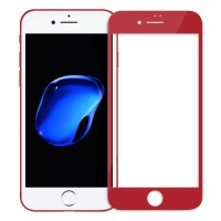 """Объемное защитное стекло Nillkin 3D на весь экран с олеофобным покрытием """"анти-отпечатки"""" для Apple iPhone 7 plus (5.5"""") (Красный)"""