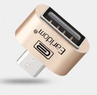 Epik Переходник с microUSB на USB OTG (с телефона/планшета на флешку) Earldom (Золотой)