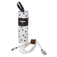 Epik Дата кабель USB to MicroUSB (в подарочной упаковке) (Треугольники)