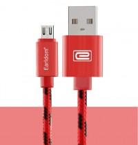 Epik Дата кабель microUSB плетеный Earldom (1m) с клипсой (Красный)