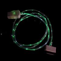 Дата кабель (светящийся) Navsailor (C-L602) для Apple iPhone 4/4S (Белый / Зеленый)