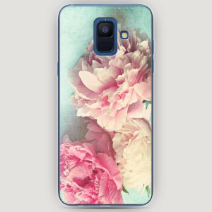RosCase | Силиконовый чехол Пионы new на Samsung Galaxy A6 (2018)