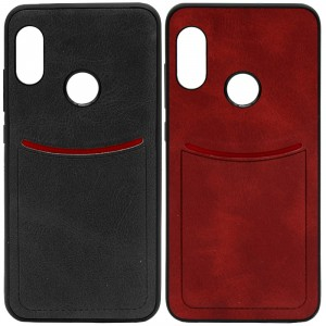 ILEVEL | Чехол с кожаным покрытием и с карманом-визитницей для Xiaomi Mi A2 Lite / Xiaomi Redmi 6 Pro