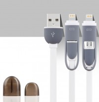 Epik ���� ������ ������� lightning/Micro USB combo Earldom (1m) (�����)