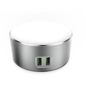 LDNIO A2208 | LED лампа с 2 USB разъемами для зарядки устройств